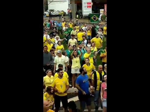 Ato em apoio a Bolsonaro. 30/09/2018. Ribeirão. av. presidente Vargas