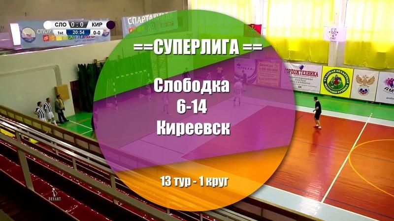 Слободка - Киреевск 6:14 (4:8) Обзор матча - 13 тур СуперЛига АМФТО