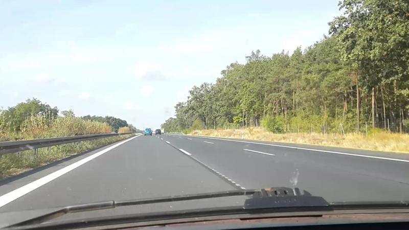 На автобане А9 в Германии
