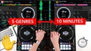 5 Genres in 10 Minutes (Mixing Transition Ideas) - Pioneer DDJ 1000 DJ Mix