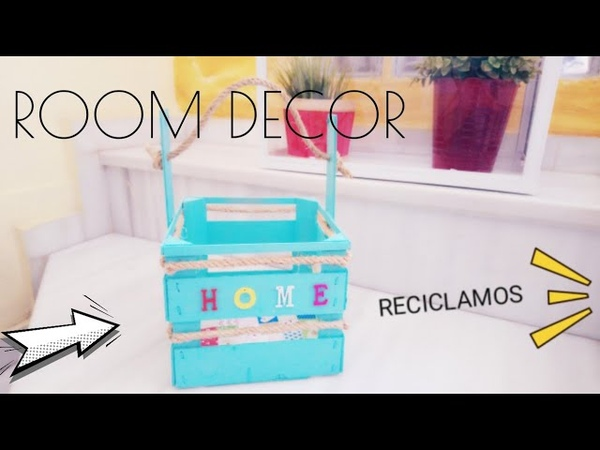 Reciclar caja de fresas/ Decorando caja de frutas/ ROOM DECOR / Wood box