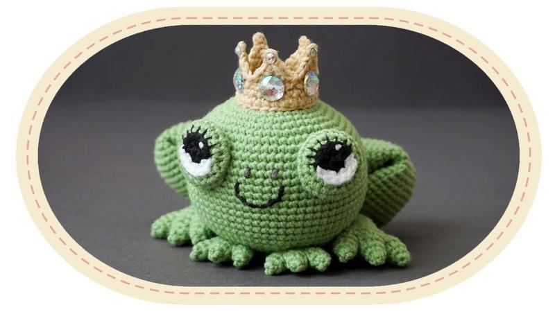 Царевна лягушка амигуруми крючком Crochet frog amigurumi
