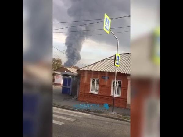 Владикавказ Экологическая катастрофа Горит завод Люди бегут из города