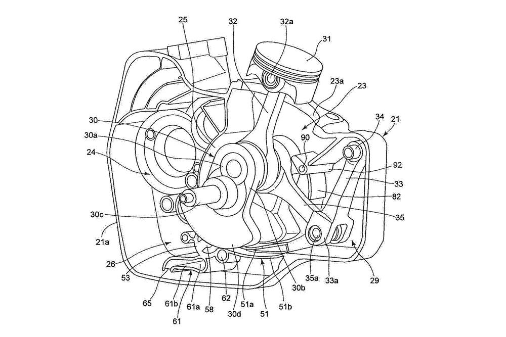 В патентах Suzuki засветился двигатель, похожий на Ducati Supermono