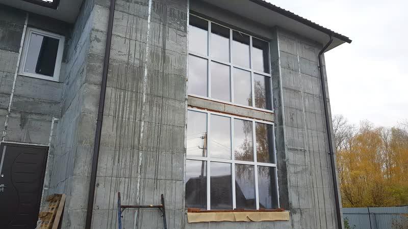 Панорамная конструкция двойной ценой Меняем новые дешевые на окна VEKA Стерлитамак Заливное Осень 2018