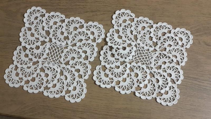 Tığişi Örgü Dantel Modeli Yapımı, Vitrin Takımı Crochet