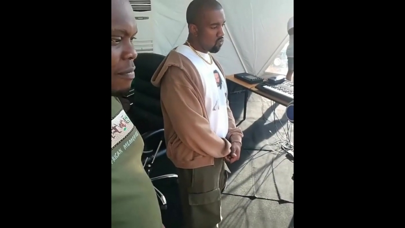 YE in Uganda with the dance moves.