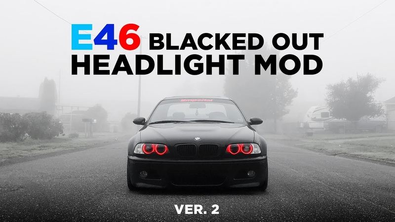 E46 Mod - Blacked out Headlights Ver. 2! - EASY Halo Install Wiring - @VADER.M3 - iJDMTOY