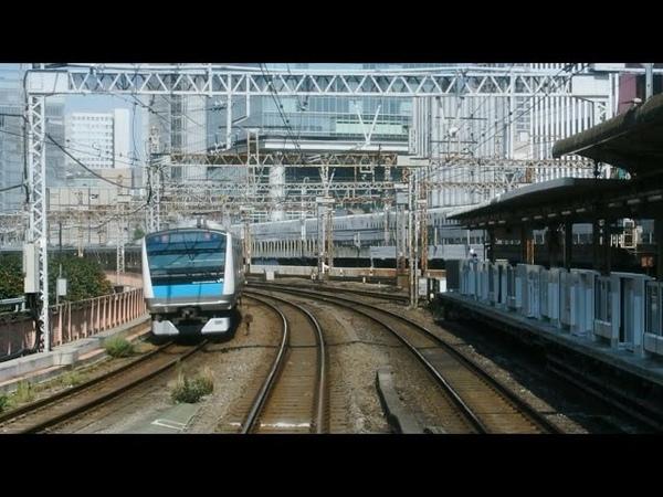 JR Yamanote Line (uchi-mawari) driver's view from Okachimachi to Ueno in Japan