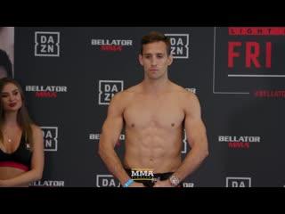Bellator 222: rory macdonald vs. neiman gracie weigh-in staredow