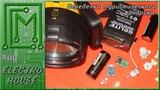 #119. Переделка туристического фонарика. Светодиоды + Li ion АКБ + плюшки
