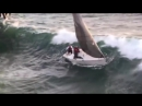 Wave capsizes small boat