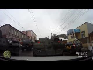 Авария с участием БТР в Курске