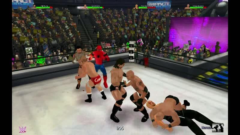 Дрю МакИнтайр (с) против Сезаро против Человека-Паука против Стива Остина против Биг Шоу против Голдберга против СМ Панка