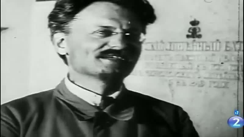 Троцкий Л.Д., сохранившиеся подлинные фрагменты киносъемок и фотографии 1917-1940 г. [360p]