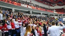 Фанатский сектор на матче сборной Беларуси