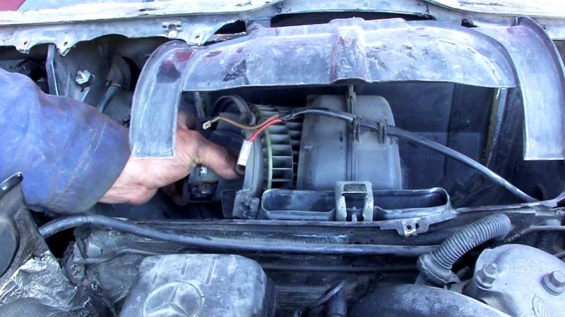 Снятие моторчика обдува салона Mercedes W124 How to remove Blower motor
