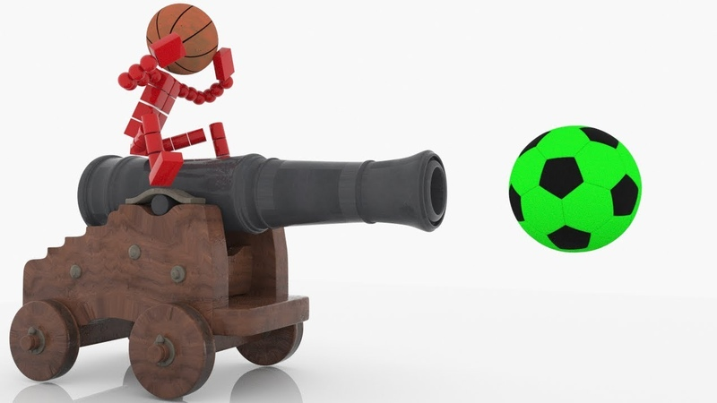 Учим цвета с футбольным мячом,шариками - Развивающие мультики для детей h