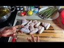 How to make Crispy Fried Chicken Wings Asparagus