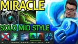 DOTA 7.21 MIRACLE lose mid but win game mid morphling rampage