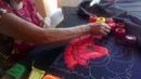 Na Maura toda una vida bordando ilusiones multicolores