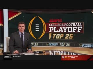 College Football Playoff: Top 25 / 17.10.2018 / EN
