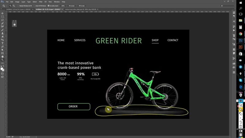 [До-после] Главный экран сайта-презентации экологически чистого городского средства передвижения.
