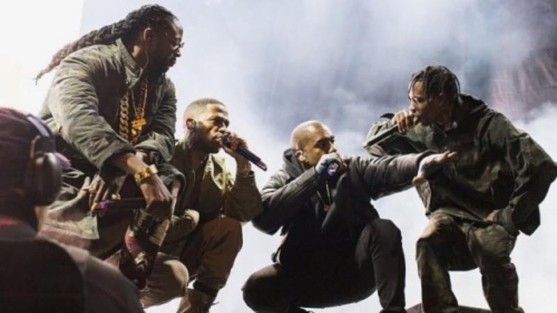 Kanye West - Live at Roc City Classic Concert (Ft. Big Sean, 2 Chainz, Pusha T Travis Scott) 2015