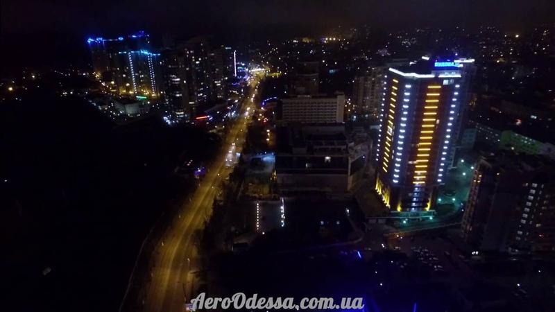 Одесса ночью с высоты птичьего полёта 2016 Площадь 10 Апреля