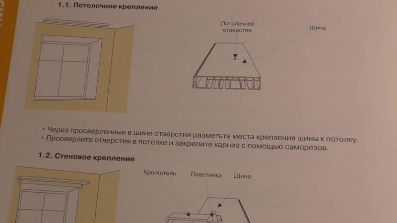 Шины ктнизы для штор Техническая документация