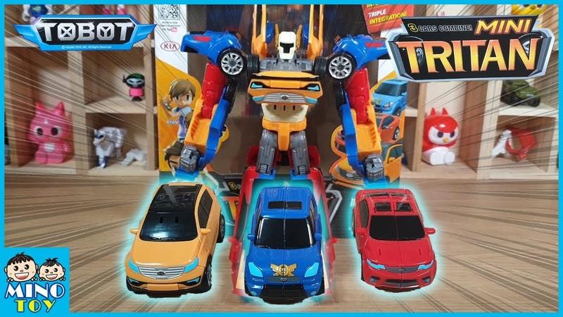 Tobot Mini Tritan 3 Cars X Y Z combine! Triple integration! Toy review!