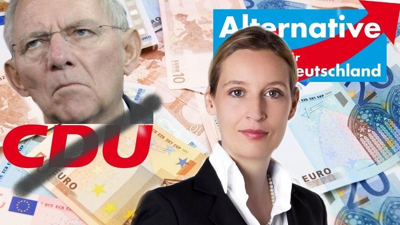 CDU klaut unsere Freiheit! AfD * WEIDEL stellt sich dagegen: BARGELD muß bleiben, Schäuble!