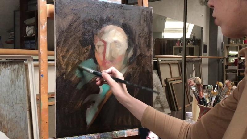 Как рисовать портрет маслом Свободная копия