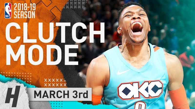 Russell Westbrook CLUTCH Full Highlights Thunder vs Grizzlies 2019 03 03 22 Points 6 Reb