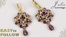 Beaded earrings Julia tutorial
