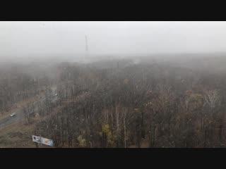 Первый снег в Пензе, 27 октября 2018 года.
