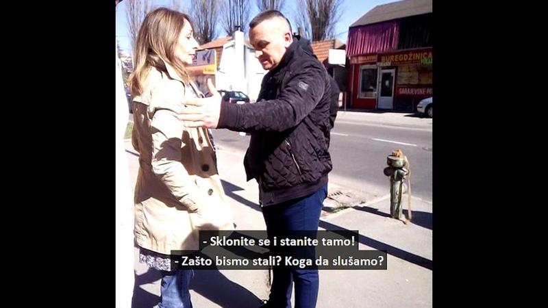 Evo kako je policija lišila slobode Branku Stamenković i Hanu Adrović ispred TV Hepi