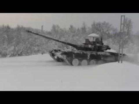 Подготовка танкистов Северного флота к конкурсу «Танковый биатлон» АРМИ-2017