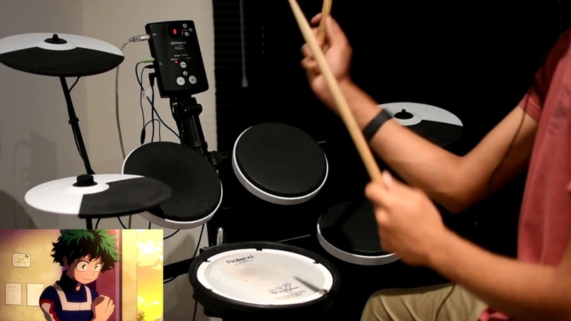 Boku no Hero Academia OP Full The Day by Porno Graffitti Drum Cover
