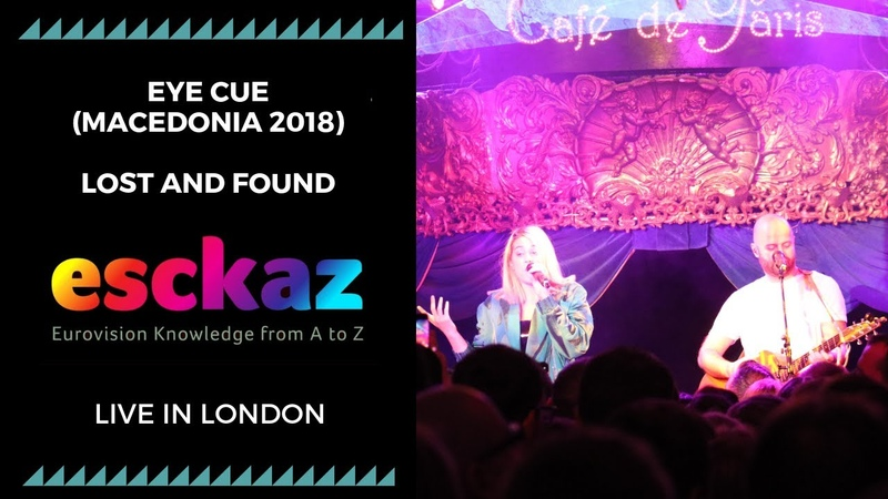 ESCKAZ in London Eye Cue Macedonia 2018 Lost and Found at London Eurovision Party 2019
