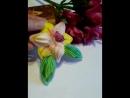 Осенний конкурс от магазина Ленты_шибори_shibori_SPb-ФАЙНДЕР 🌾🌻🌿🌹🍀🌼🌼🍀🌹🌿🌻🌾 брошь,,Лилия.