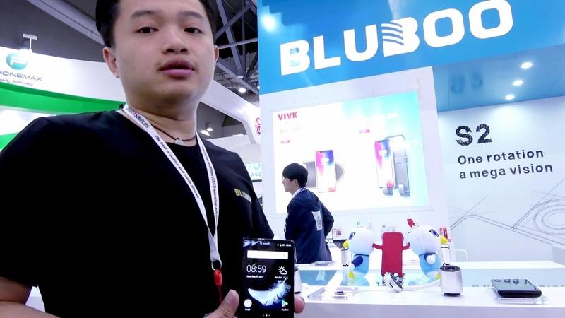BLUBOO S2 с поворачивающейся камерой, видео с выставки (на английском языке)