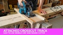Attached mobile circ saw crosscut sled