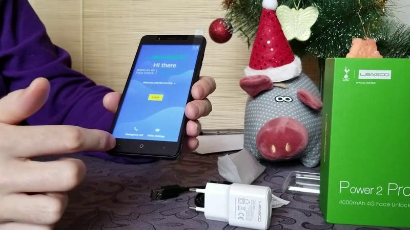 Распаковка LEAGOO Power 2 Pro на русском у новогодней елки