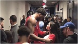 Crying Joel Embiid Gets Comforted By His Girlfriend After A Heart Breaking Loss