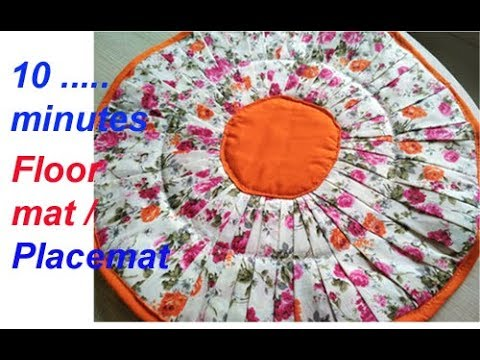 Request Video -10 minutes handmade placemat , floor mat, door mat,area rug,table mat