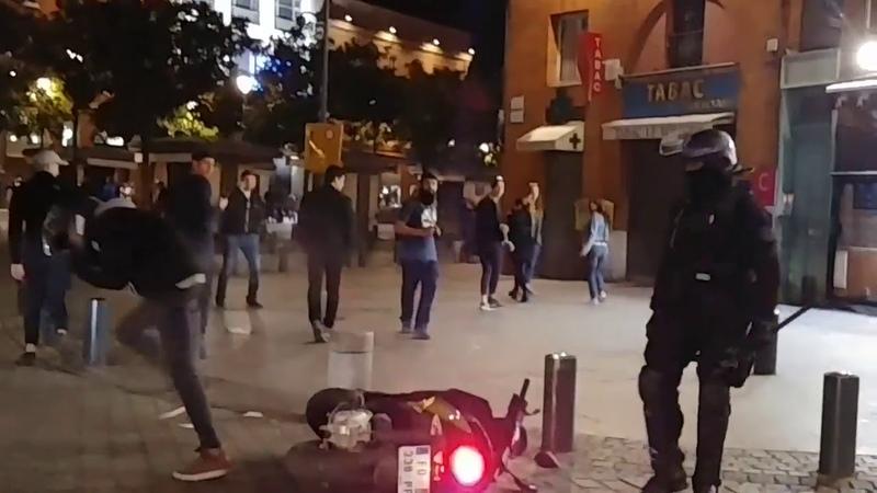 Acte 19 Toulouse: un ado se fait gazer à bout portant sur son scooter !