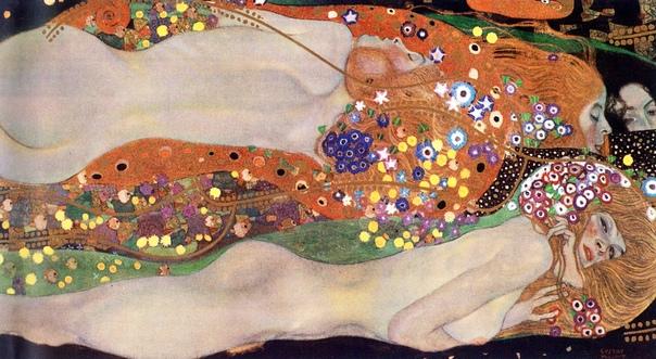 История одного шедевра. «Водяные змеи I», «Водяные змеи II» Густав Климт С 1904 по 1907 Густав Климт был увлечён созданием двух необычных картин, имеющих схожий сюжет: «Водяные змеи I» и