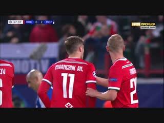 1-2 Антон Миранчук 38' «Локомотив» - «Порту»