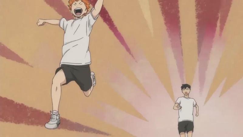 Момент из аниме Волейбол!! (Haikyuu!!) - [AniDub]